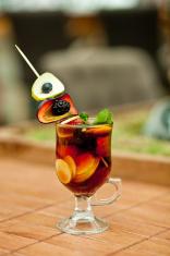Fruit tea with fresh fruits