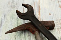Hammer and wrench old