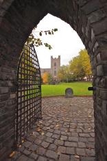 Gate of St. Audoen's Church in Dublin