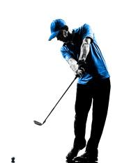 man golfer golfing golf swing silhouette