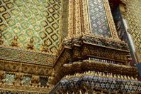 pillar in Wat Phra Kaew with beautiful pattern