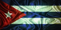 Vintage Cuba flag.
