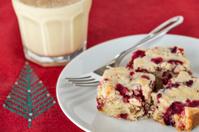 Cranberry cake with egg nog