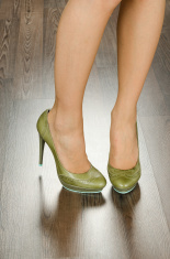 Fashionable women shoes in the office