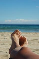 my happy legs on the beach
