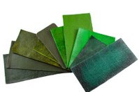 leather sample selection