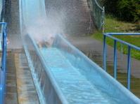 Splash on water slide
