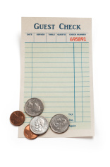 Blank Guest Check and Coin
