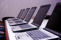 Row of Laptops