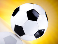 Soccer ball and sunshine