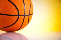 Basketball ball and sunshine