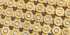 Empty 9mm bullet casings