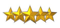 Five Star Reward Cocept.