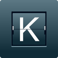 Letter K from mechanical scoreboard. Vector
