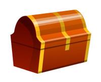 vector icon treasure box