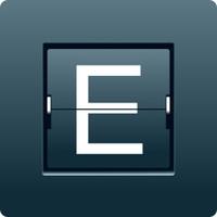 Letter E from mechanical scoreboard. Vector