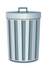 vector icon trash can