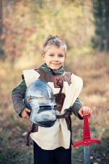 Portrait of a little knight