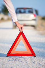 Image result for Road Safety Triangle behind car