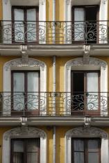 windows facade. MAdrid, Spain