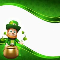 St. Patrick's Day Leprechaun with golden pot
