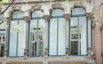Artd deco window in Barcelona