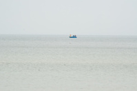 boat on the open sea
