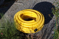 Drainage hose for a private house