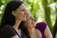 Girlfriends sharing a moment, horizontal