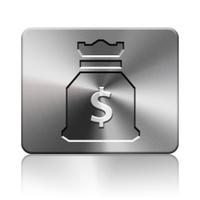 Moneybag icon silver
