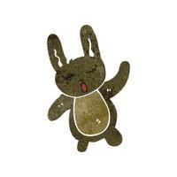 retro cartoon cute rabbit