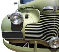 Classic WWII Military Truck Closeup