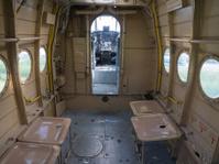 Inside a vintage small jet plane