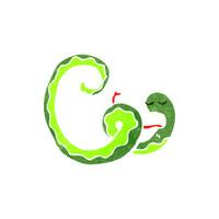 funny retro cartoon snake