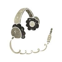 retro cartoon headphones