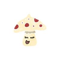 retro cartoon toadstool