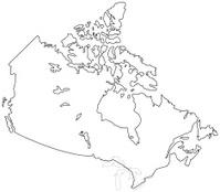 cartoon map of canada stock vector