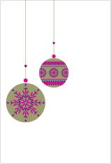 Jewel Opulent Hanging Christmas Baubles