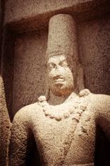 Statue at Panch Rathas MonolithicTemple