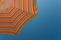 Beach umbrella in summer