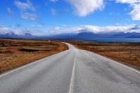 Long and Empty Asphalt Road