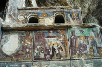 religious iconas at sumela virgin mary monastery of trabzon turk