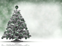 Christmas card template - xmas tree and copy space