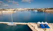 Sliema beachfront. Malta.