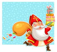 Sinterklaas carrying presents