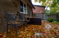 neighborhood autumn scene