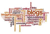 Blog and blogging concept background