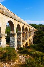 Roman aqueduct de les Ferreres in Tarragona