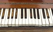Grungy And Broken Old Piano Keys