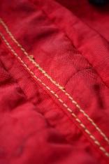 vivid red fabric
